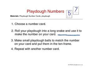 Playdough Numbers Worksheet