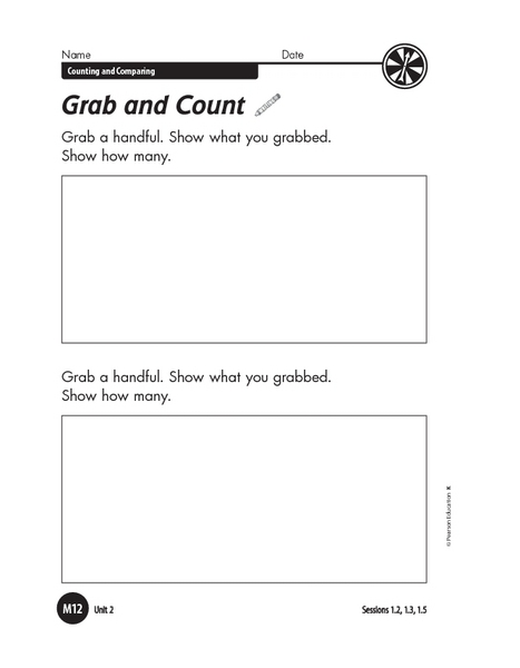 Grab and Count Worksheet
