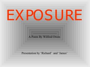 Exposure: A Poem by Wilfred Owen Lesson Plan