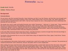 Fireworks Lesson Plan