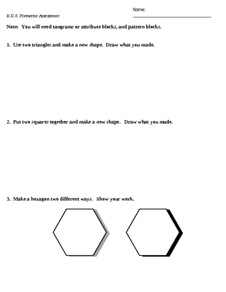 Making New Shapes Lesson Plan