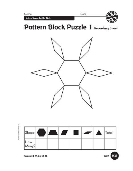 Pattern Block Puzzle 1 Graphic Organizer