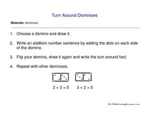 Turn Around Dominoes Worksheet
