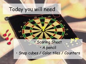 Grade 1 Common Core Math Presentation - Darts Presentation