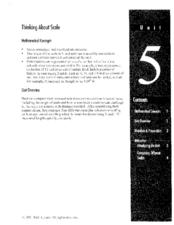 Thinking About Scale: Grade 2 Unit 5 Lesson Plan