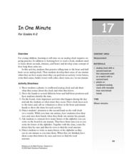 In One Minute Lesson Plan