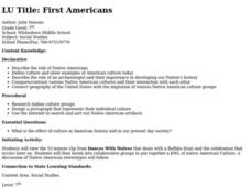 First Americans Lesson Plan