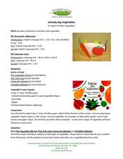 Growing Minds: A Project All About Vegetables Lesson Plan
