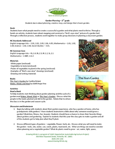 Growing Minds: Garden Planning Lesson Plan