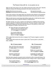 The Passive Voice with se Worksheet