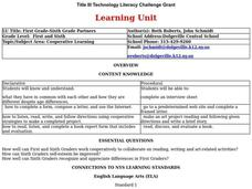 First Grade-Sixth Grade Partners Lesson Plan