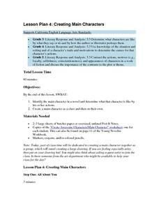 Lesson Plan 4: Creating Main Characters Lesson Plan