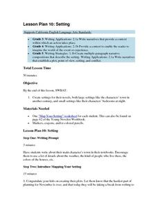 Lesson Plan 10: Setting Lesson Plan
