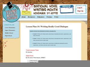 Lesson Plan 10: Writing Really Good Dialogue Lesson Plan