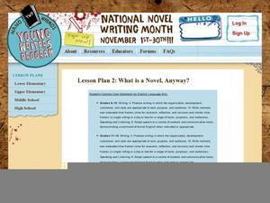 Lesson Plan 2: So What's a Novel, Anyway? Lesson Plan