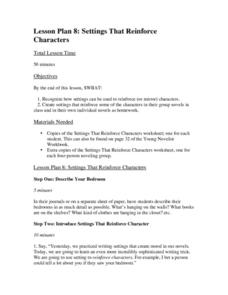 Lesson 8: Settings that Reinforce Characters Lesson Plan