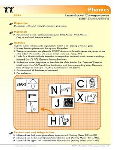 Letter-Sound Dominoes Lesson Plan