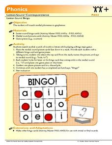 Letter Sound Bingo Lesson Plan