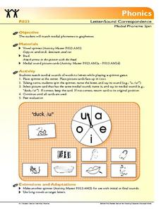 Letter Sound correspondence: Activity Lesson Plan