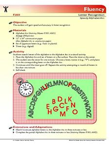Speedy Alphabet Arc Lesson Plan