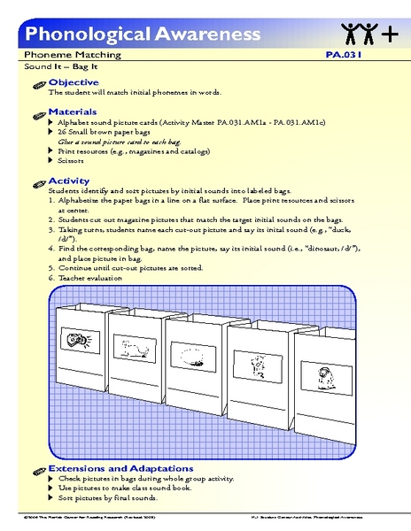 Sound it-Bag it Lesson Plan