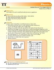 Letter Sound Match Lesson Plan