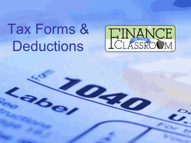 Tax Forms and Deductions Presentation