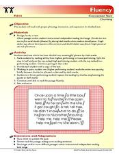 Chunking Lesson Plan