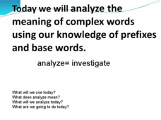 Analyze Complex Words  Presentation