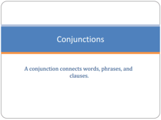 Conjunctions  Presentation