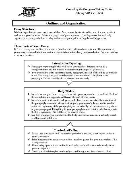 Critical Essay Thesis Statement Outlines And Organization Sample Outline Worksheet Outlines And  Organization Sample Outline Worksheet Health Essay Example also History Of English Essay Outlines And Organization Sample Outline Worksheet For Th  Th  What Is Thesis In Essay