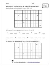Count to 100 by 1s and 10s Worksheet