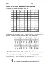 Counting to 100 (by 1s) Worksheet
