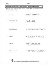 Match the Number Sentence! Worksheet