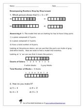 Decomposing Numbers Step-By-Step Worksheet