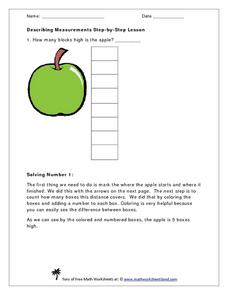 Describe Measurements Step-by-Step Lesson Worksheet