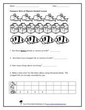 Compare Sets of Objects Guided Lesson Graphic Organizer