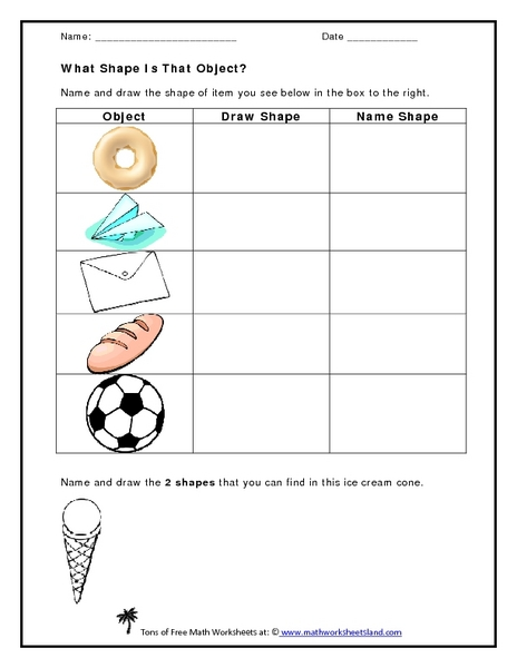 What Shape Is That Object? Worksheet