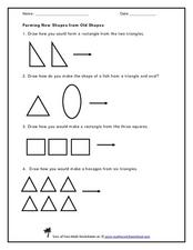 Forming New Shapes from Old Shapes Worksheet