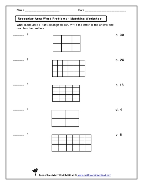Area word problems worksheets grade 7