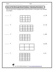 Area of the Rectangle Word Problems Worksheet