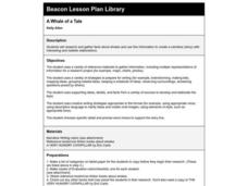 A Whale of a Tale Lesson Plan
