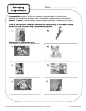 Picturing Prepositions  Worksheet