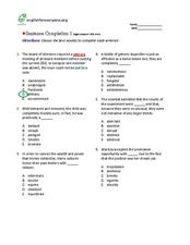 Sentence Completion: High Advanced Worksheet