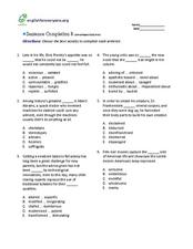 Sentence Completion 8 (low-advanced SAT level)) Worksheet
