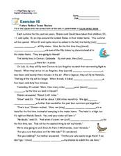 Exercise 16: Future Perfect Tense Review Worksheet