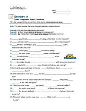 Future Progressive Tense: Questions Worksheet