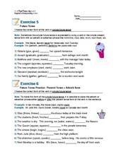 Simple Future Tense: Exercise 5 Worksheet for 6th - 8th Grade ...