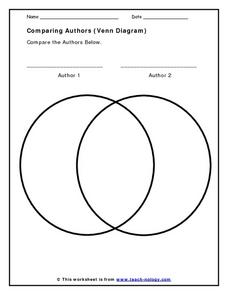 Comparing Authors (Venn Diagram) Worksheet