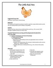 The Little Red Hen: Lesson  Lesson Plan